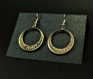 NEW handmade Australian half penny earrings (sterling silver hooks)