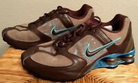 Nike + Shox Women's US 6.5 Brown Tan Teal Running Shoes 317329-221 Great cond.