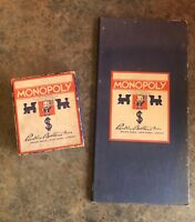 Vintage 1935 Monopoly Parker Brothers 1933 Chas B Darrow Dual Patent Board Game