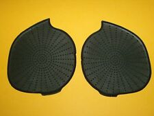 OEM DODGE RAM TRUCK FOLD DOWN PULL OUT CUP HOLDER RUBBER INSERT PADS SET / PAIR