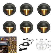 6pcs/set 12V Black Half Moon Outdoor Yard Stair Path LED Deck Step Fence Lights