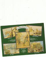 unused Postcard Cornwall, Newlyn, St Ives, Boddinick, Mevagissey, Polperrro
