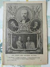 LA GRANDE GUERRE 1914 - 1918 document de 16 pages