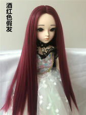BJD SD Boy Girl Dolls 3 4 6 8 Small 3 Centre Parting Straight Wig Hair