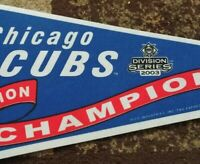 2003 Chicago Cubs Central Division Champions db Pennant, FULL SIZE AUTHENTIC !
