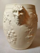 Big Pottery Wine Bottle Chiller Planter Vase 1990 BACCHUS & Vine Grape motif