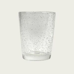 Set of 8 Bubbled Glass Tumbler in Clear