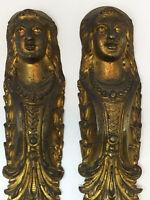 Paire de Cariatide Bronze Doré Napoleon III 19 th