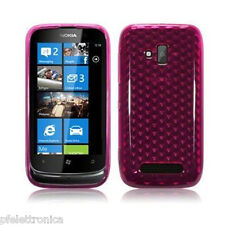 étui silicone PROTECTION rose transparent invisible pour NOKIA LUMIA 610