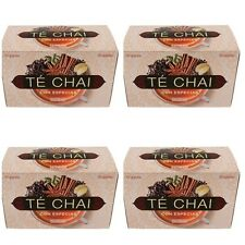 4 BOXES - CHAI TEA  WITH SPICES  -  HACENDADO  1 BOX = 20 TEA BAGS