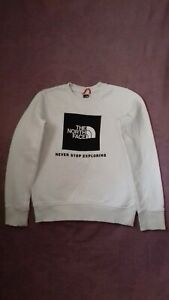 Boys North Face White Jumper, Age 9-10 Years