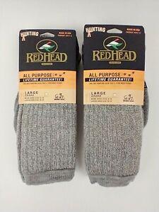 2 Pair RedHead Merino Wool Heavyweight All Purpose Hunting Socks Size Large