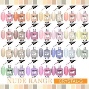 CRYSTAL-G - NUDE RANGE - TOP BASE MATTE - SOAK OFF UV LED GEL NAIL POLISH