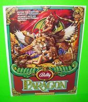PARAGON Pinball Machine Promo Sales Flyer 1979 NOS BALLY Great Fantasy Artwork