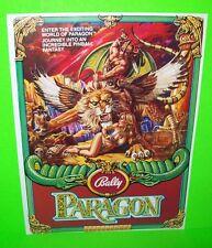 Bally PARAGON 1979 Original NOS Flipper Game Pinball Machine Promo Sales Flyer