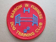 Barrow In Furness Dog Training Club Animal Woven Cloth Patch Badge