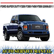 FORD SUPER DUTY F250 F350 F450 F550 2006-2011 WORKSHOP SERVICE MANUAL ~ DVD