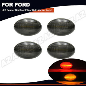For 1999-2010 Ford F350 F450 Dually Bed LED Side Fender Marker Lights Smoked 4X