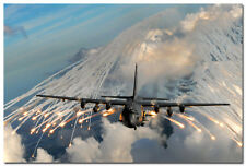 AC 130H Spectre Aircraft Silk Poster 24x36inch Military Picture Wall Decor 001