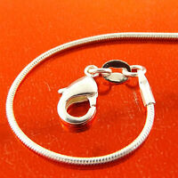 NECKLACE PENDANT CHAIN GENUINE REAL 925 STERLING SILVER SOLID S/F SNAKE DESIGN