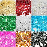 1000 Confetti Diamond Shape 6.5mm 1ct Tabletop Crystal Gems Acrylic Bead Party