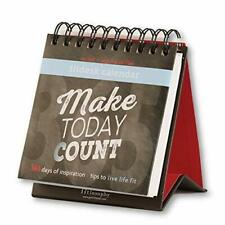Fitlosophy Make Today Count 365 Day Inspirational Perpetual Desk Calendar