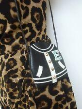 Petite pochette sac à main noir veste universitaire américaine teddy rockabilly