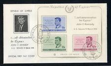 ZYPERN Bl.3 SCHMUCK-FDC ESST 15.2.1965 KENNEDY ME 100,-++ !!! (133150)