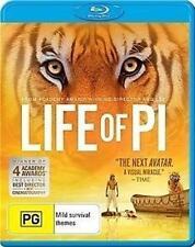 LIFE OF PI Director Ang Lee Suraj Sharma, Irrfan Khan BLU-RAY/ NEW