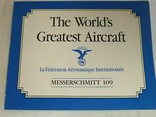 Franklin Mint Messerschmitt 109 The Worlds Greatest Aircraft Original Coa