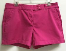 Vineyard Vines Women's Size 10 Flat Front Cotton Blend Chino Whale Shorts Pink