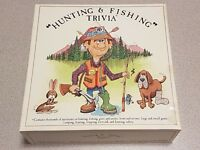 Hunting & Fishing Trivia Board Game 1985
