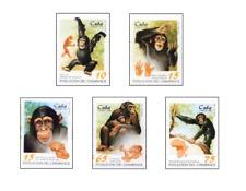 KUB9804 Chimpanzees 5 pcs MNH 1998