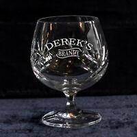 Personalised Name Crystal Brandy Glass Perfect Wedding Retirement Birthday Gift