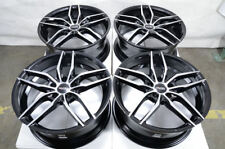 "18"" Wheels Bimmer BMW 128 135 228 230 318 320 323 325 328 340 Black Rims 5x120"