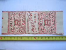 BRYANT & MAY RUBY MATCHES BOX LABEL c1900 LARGE SIZE RARE COLOUR PICTORIAL No 2