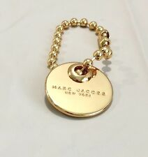 MARC JACOBS GOLD METAL LOGO BAG CHARM  GOLD  NWOT