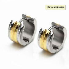 Echter Edelmetall-Ohrschmuck ohne Steine aus Edelstahl mit Schnappverschluss für Unisex