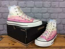 CONVERSE LADIES UK 6 EU 39 PINK WHITE ALL STAR PHOTO REAL SUNSET HI TRAINERS