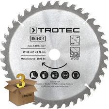 TROTEC Lames bois pour scie circulaire Ø 150 mm (40 dents) 3 pces