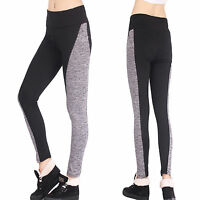 Women's Sports Yoga Gym Workout Pants Stretch Leggings Slim Running Trousers L