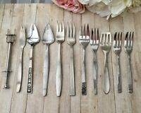 VINTAGE CUTLERY BUNDLE 11PCE STAINLESS STEEL FORKS SPORKS FIRTH PASTRY MODERNA