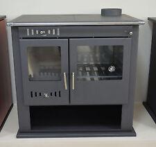 Wood Burning Cooking Stove 9-15 kW Oven Solid Fuel Cooker Hot Plates Log Burner