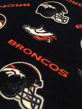 "NWOT Broncos Football Fleece Blanket/Throw  57 X 70"". Handcrafted. Great Gift"