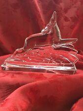 FLAWLESS Exquisite BACCARAT Crystal DEER ELK MOOSE ANTELOPE LEAPING Sculpture