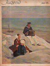 1915 Jugend October 16 Original German Art-Erler; Liebermann;Engelhard;Accordian
