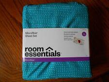ROOM ESSENTIALS BLUE DOT MICROFIBER Xl DORM ROOM SHEET SET NIP