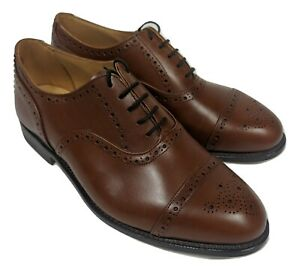 RRP£475 new TRICKER'S Brown leather derby brogues UK 11 / EU45