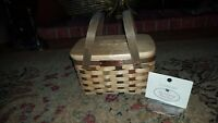 longaberger collectors club 25th bee 2006 basket with 6 signatures