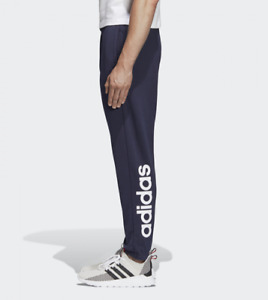 Adidas Essentials Linear Fleece Joggers Bottoms Tapered Gym Sport Casual Men New